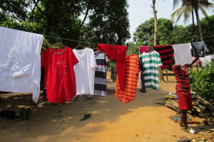 The Water Project: Kitonki Community A -  Using A Clothesline
