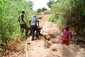 The Water Project: Kitandini Community -  Sand Dam Construction