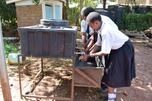 The Water Project: Kaani Lions Secondary School -  Handwashing Station