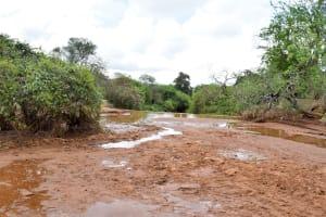 The Water Project: Maluvyu Community B -  Finished Sand Dam Construction