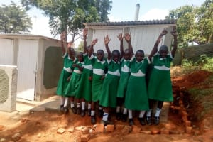 The Water Project: Erusui Girls Primary School -  Finished Latrines