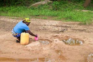 The Water Project: Kivandini Community A -  Fetching Water
