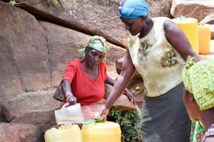 The Water Project: Uthunga Community A -  Sieving Dirt Out Of The Water
