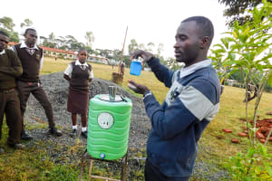 The Water Project: Womulalu Secondary School -  Handwashing Training