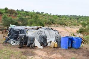 The Water Project: Katung'uli Community B -  Sand Dam Materials