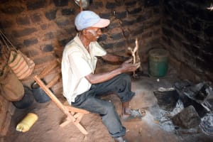 The Water Project: Mbuuni Community E -  Mr Mbalu In His Kitchen