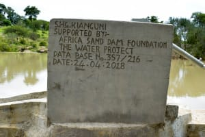 The Water Project: Katung'uli Community C -  Finished Hand Dug Well