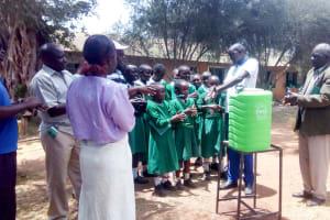 The Water Project: Erusui Girls Primary School -  Handwashing Training