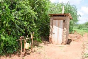 The Water Project: Mbuuni Community D -  Latrine