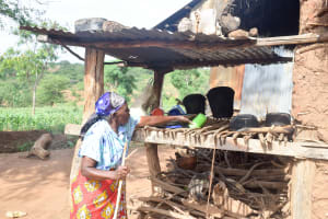 The Water Project: Maluvyu Community C -  Using A Dish Rack
