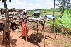 The Water Project: Mbuuni Community B -  Using A Dish Rack