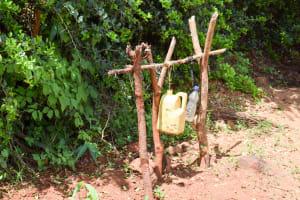 The Water Project: Mbuuni Community D -  Handwashing Station Next To Latrine