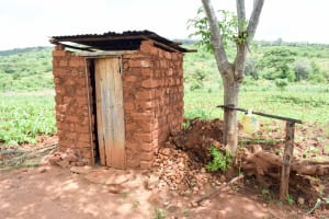 The Water Project: Mbuuni Community C -  Latrine