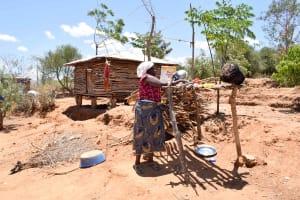 The Water Project: Katung'uli Community B -  Using A Dish Rack