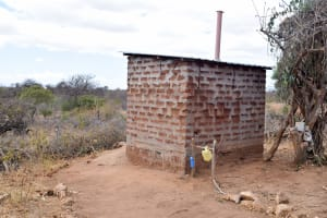 The Water Project: Katuluni Community C -  Latrine
