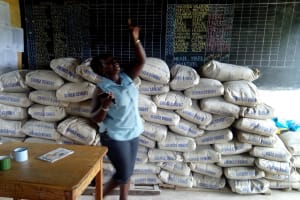 The Water Project: Imuliru Primary School -  Cement Bags For New Tank