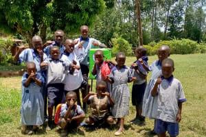 The Water Project: Imuliru Primary School -  New Handwashing Station