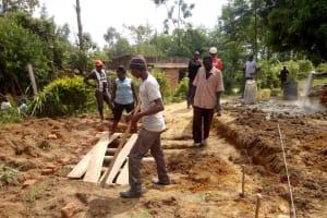 The Water Project: Imuliru Primary School -  Preparing Site For New Latrines