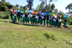 The Water Project: ACK Milimani Girls' Secondary School -  Lined Up With Water Buckets