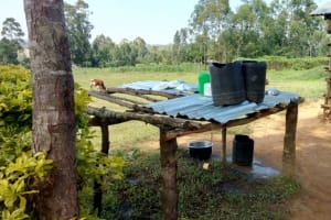 The Water Project: St. John Cheptech Secondary School -  A Dishrack With Water Containers On It