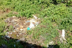 The Water Project: St. John Cheptech Secondary School -  A Dumping Site At The School