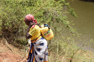 The Water Project: Kithuluni Community B -  Carrying Water