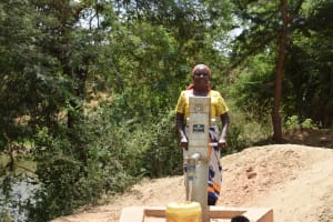 The Water Project: Kithuluni Community B -  First Completed Well