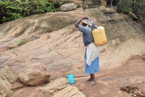 The Water Project: Ikuusya Community -  Preparing To Carry Water
