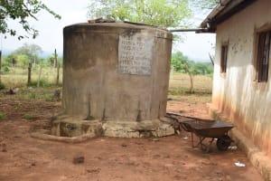 The Water Project: Ikuusya Community -  Rainwater Storage Tank