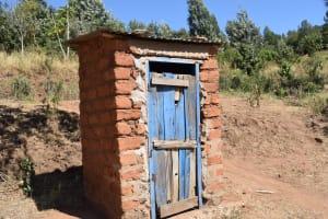 The Water Project: Ilinge Community D -  Latrine