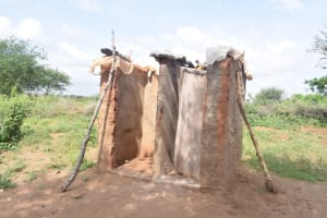 The Water Project: Maluvyu Community D -  Latrine And Bathroom