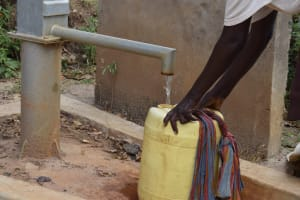 The Water Project: Masaani Community A -  Water From First Well