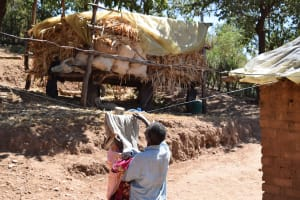 The Water Project: Ilinge Community E -  Clothesline