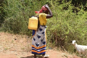 The Water Project: Kithuluni Community C -  Carrying Water Home