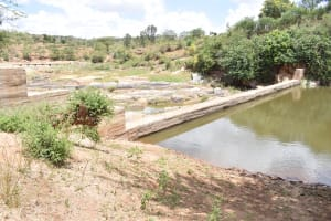 The Water Project: Kithuluni Community C -  First Dam At Water Source