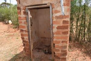 The Water Project: Kithuluni Community C -  Latrine