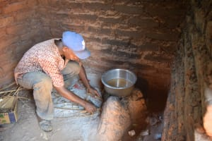 The Water Project: Ngitini Community A -  Cooking In Kitchen