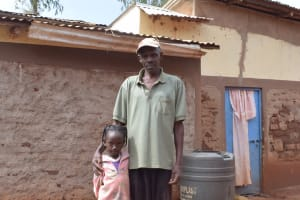 The Water Project: Kala Community A -  Mr Ntheketha And Daughter