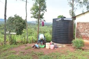 The Water Project: Kala Community A -  Rainwater Harvesting Tank