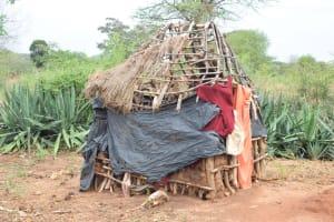The Water Project: Ikuusya Community A -  Latrine