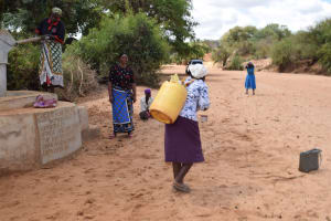 The Water Project: Katalwa Community A -  Carrying Water Home