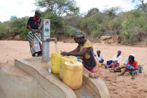 The Water Project: Katalwa Community A -  First Completed Well
