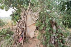 The Water Project: Kithumba Community C -  Latrine