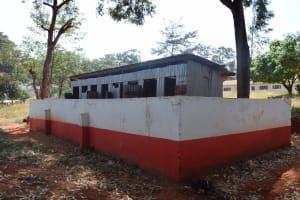 The Water Project: Ndoo Secondary School -  Boys Latrines