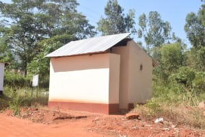 The Water Project: Ndoo Secondary School -  Staff Latrines