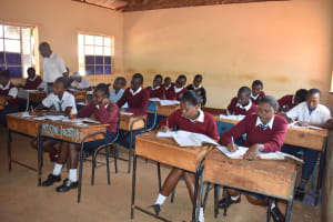 The Water Project: Ndoo Secondary School -  Students In Class