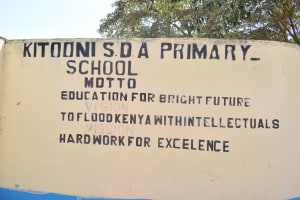 The Water Project: Kitooni Primary School -  School Sign