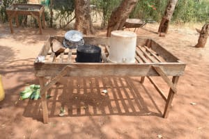 The Water Project: Muunguu Primary School -  Dish Drying Rack