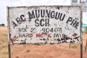 The Water Project: Muunguu Primary School -  School Sign