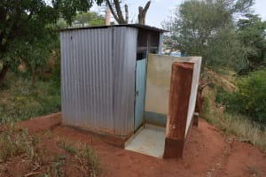 The Water Project: AIC Mbau Secondary School -  Staff Latrines